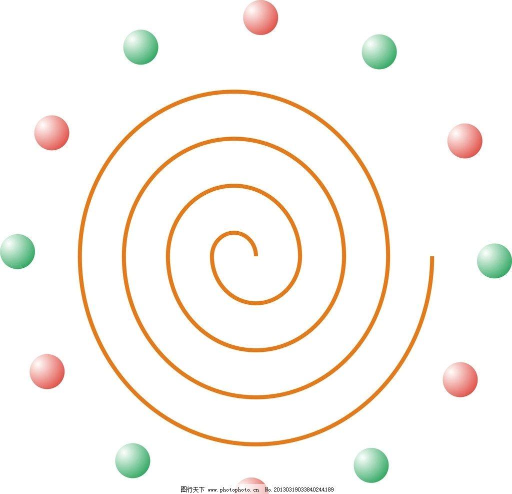 太阳花 制作 矢量图 螺纹 球 矢量素材 其他矢量 矢量 cdr