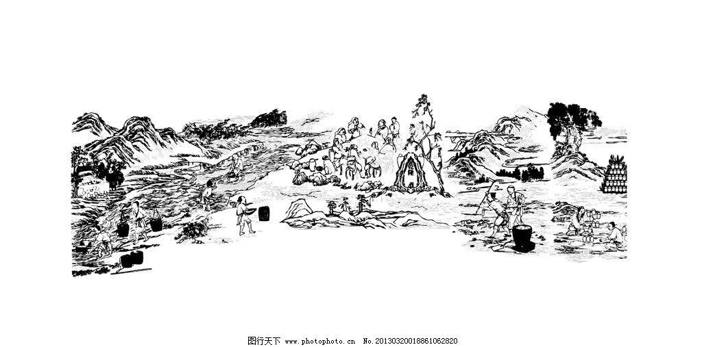 酿酒图 中国传统 酒文化 传统图案 中国酿酒工艺图 传统文化 文化艺术