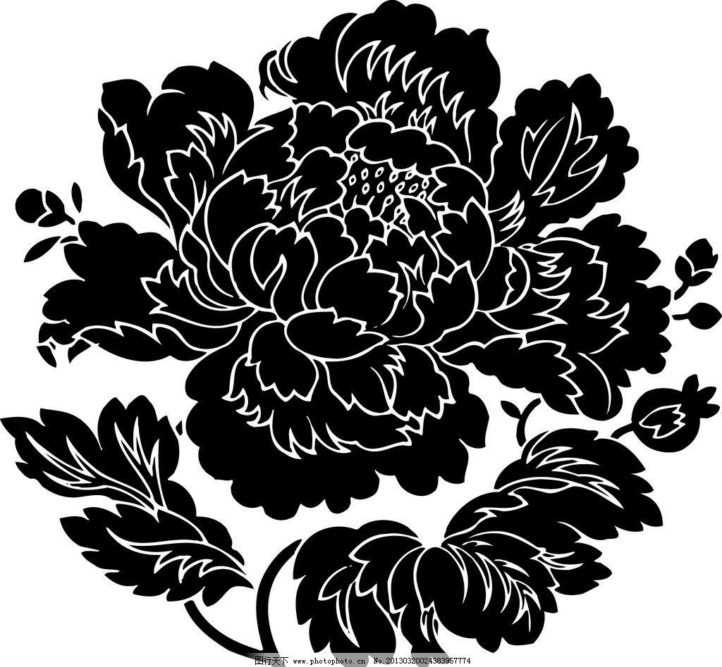花纹 牡丹 花团 底纹边框 牡丹花团 中国古代 纹理 花纹花边 中国古