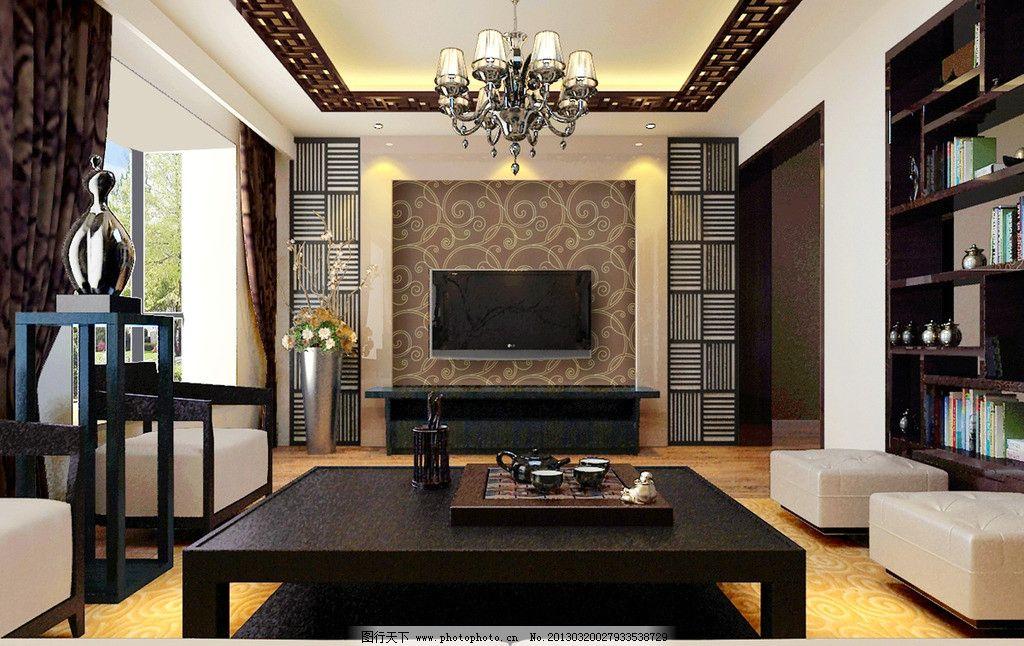 客厅效果图图片_室内设计_环境设计_图行天下图库
