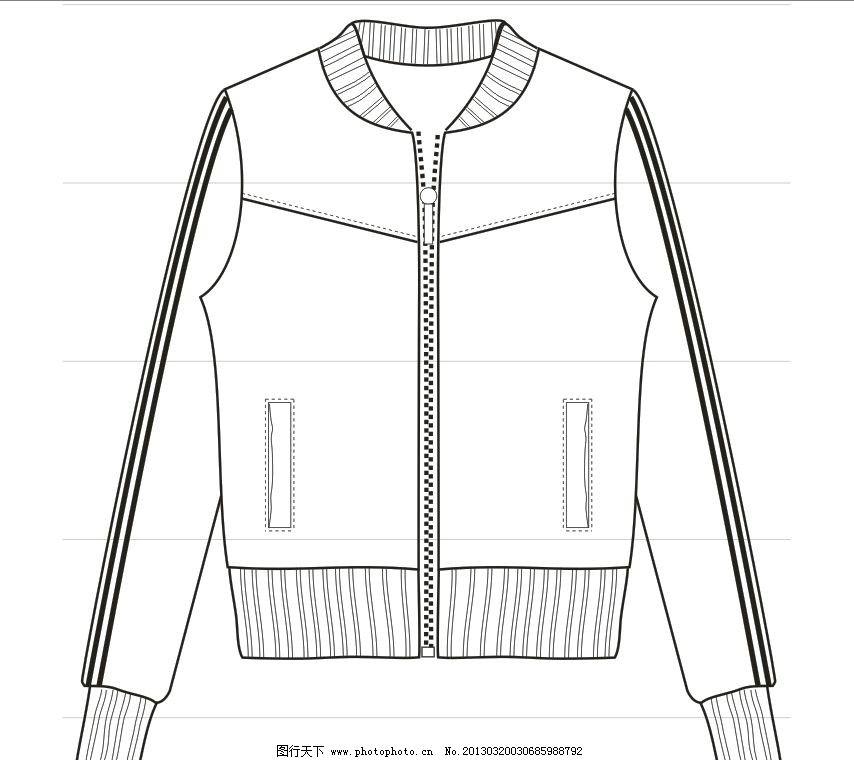 服装款式图 服装设计 广告设计 矢量 cdr