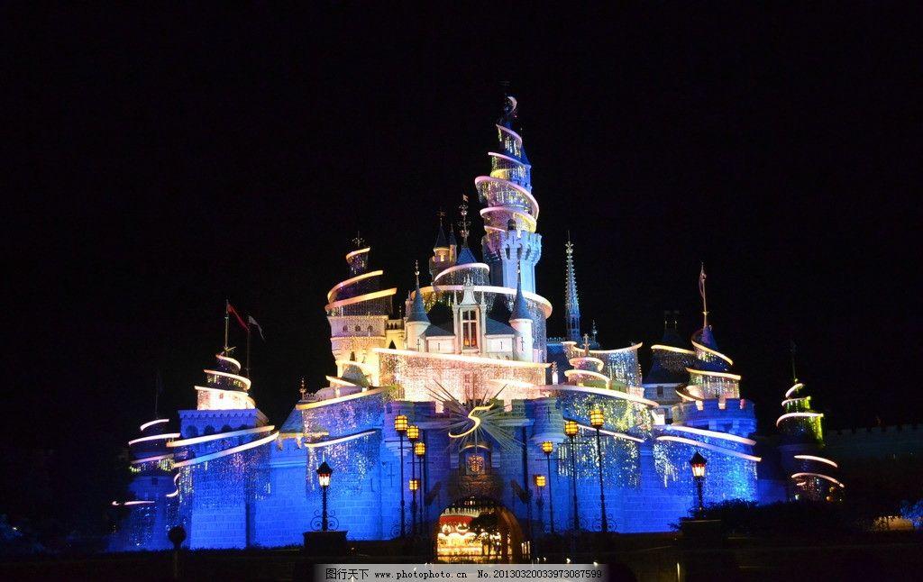 香港迪士尼乐园 香港 迪士尼 迪士尼乐园 夜景 城堡 梦幻 卡通人物 睡