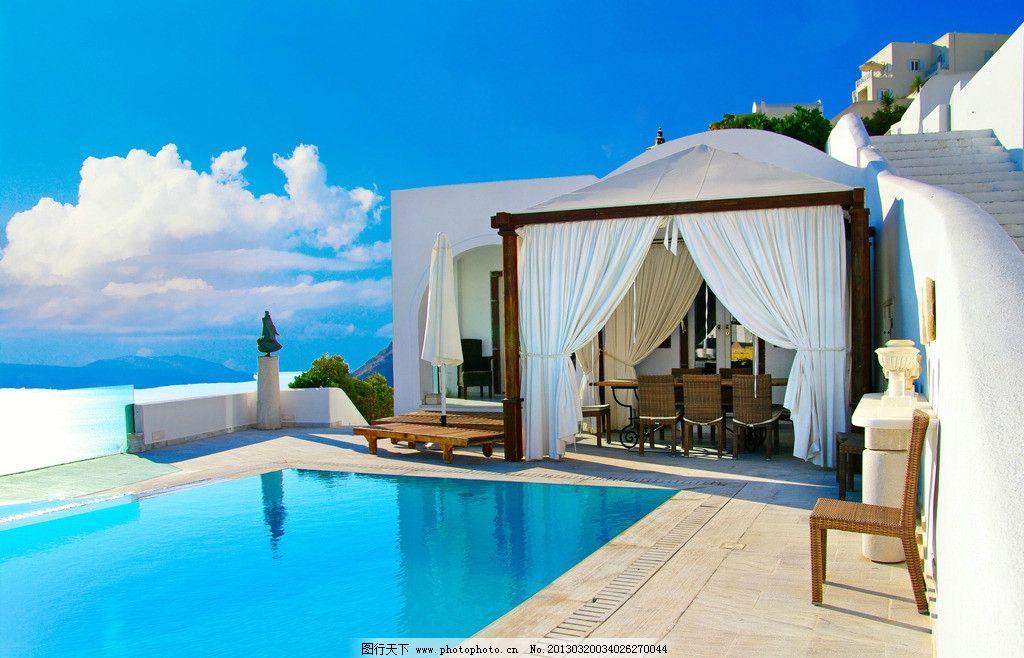 别墅游泳池图片