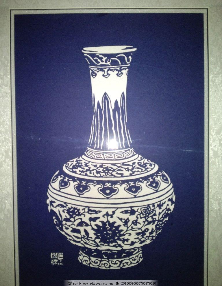 杨仁帮剪纸艺术作品 青花瓷瓶图片