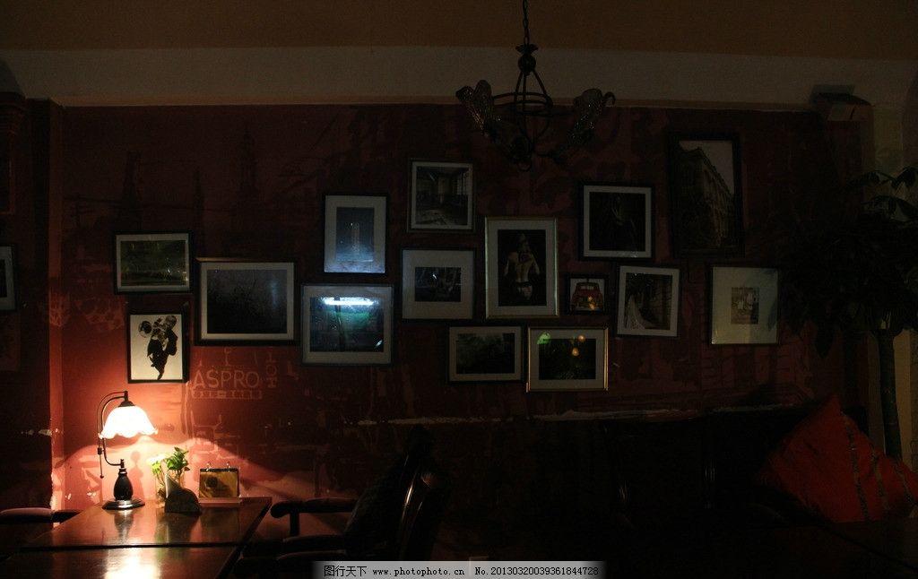 咖啡馆照片墙 背景墙 咖啡馆