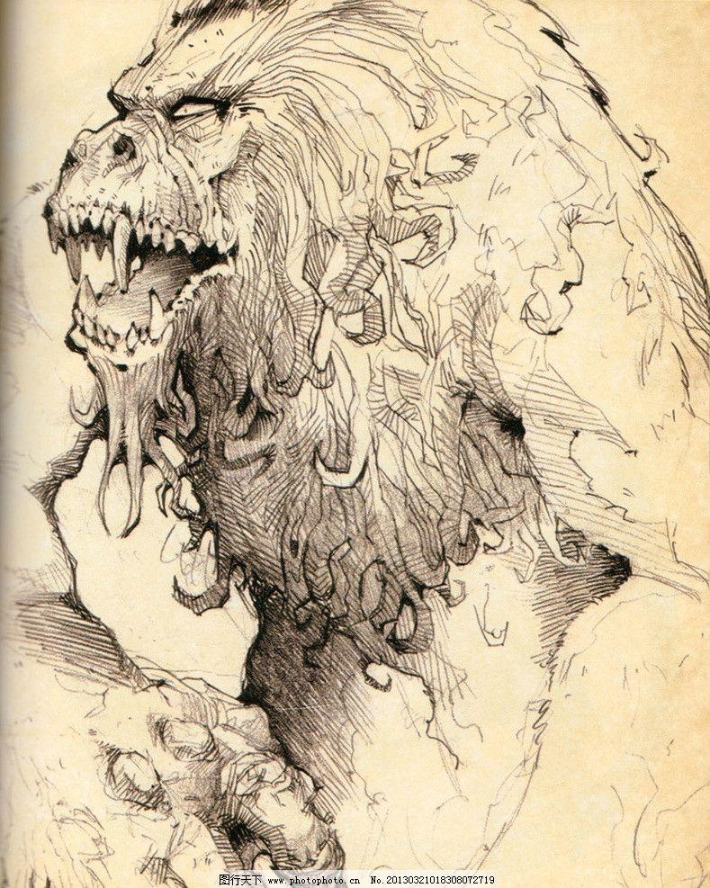 游戏动物设计 恐龙 怪物 魔兽 狮子 游戏怪兽 网络游戏 游戏原画
