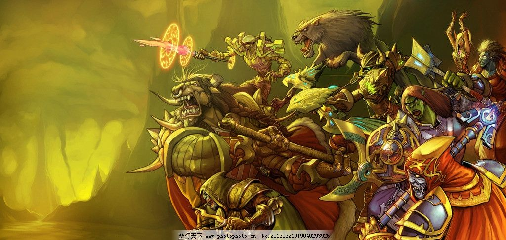 魔兽世界图片 魔兽世界 魔兽 网游 桌游 卡牌 动漫 人物 绘画书法