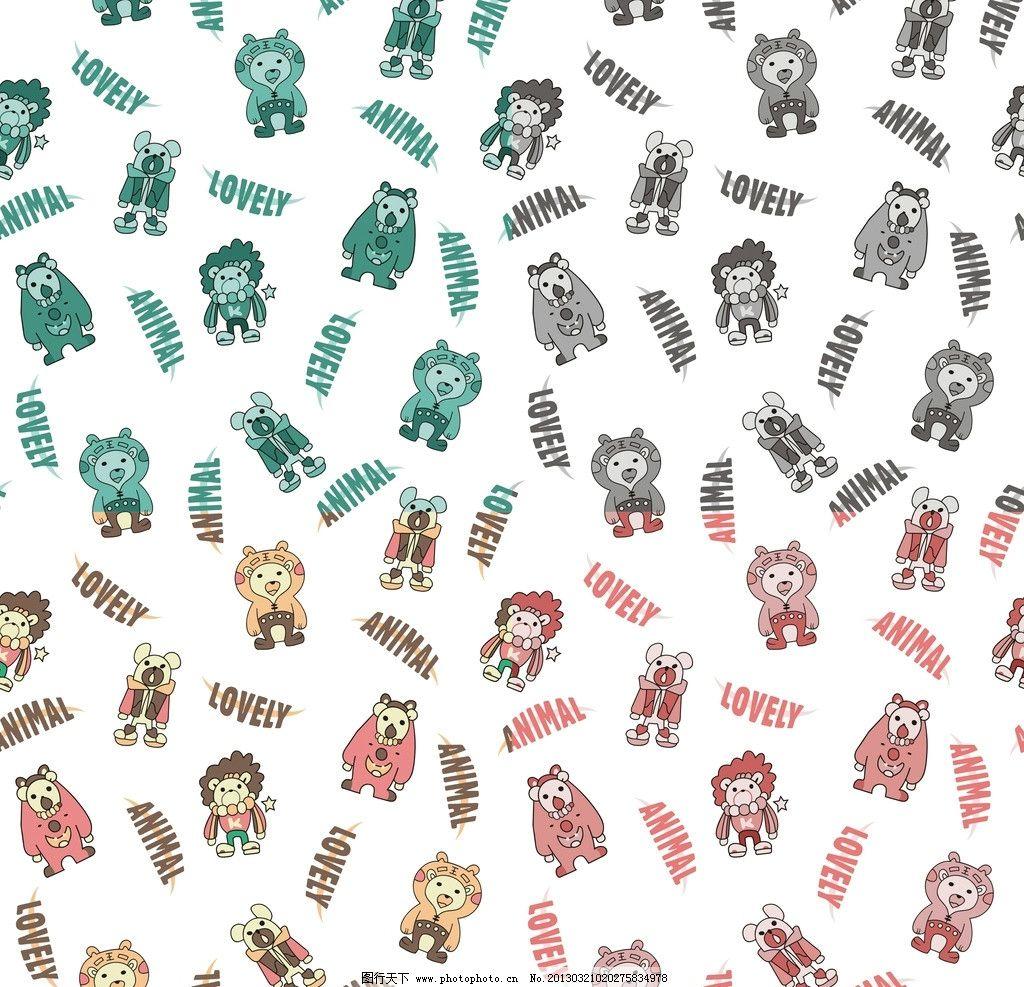 矢量小动物 动物 背景 边框 底纹 色彩 底纹背景 底纹边框 矢量 cdr