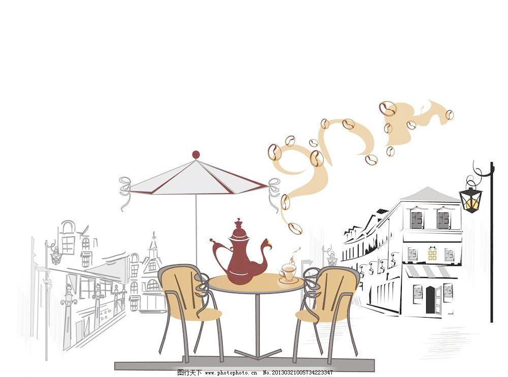 咖啡手绘海报图片