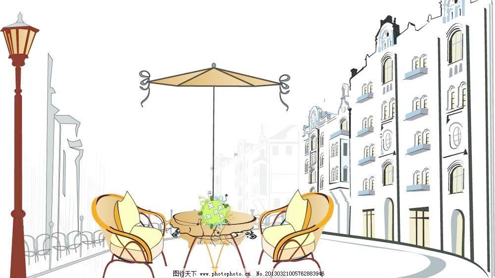 eps 广告设计 海报设计 咖啡 咖啡馆 漫画 商业 手绘 休闲 咖啡馆矢量
