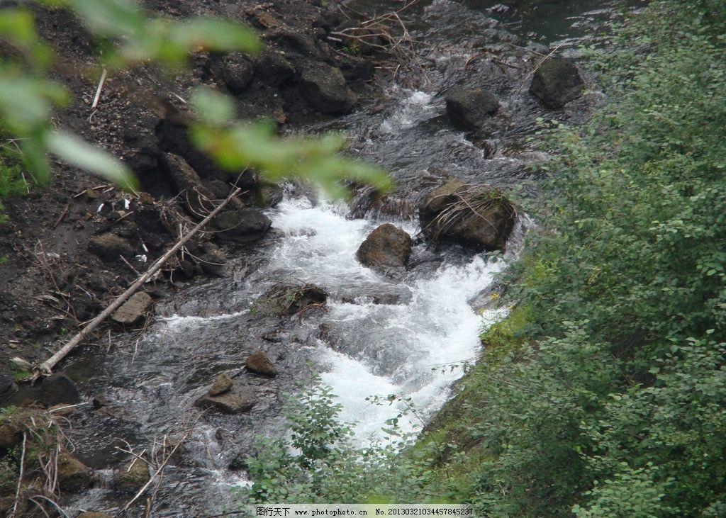 峡谷 小溪 水流 长白山 吉林 山水风景 自然景观 摄影 72dpi jpg