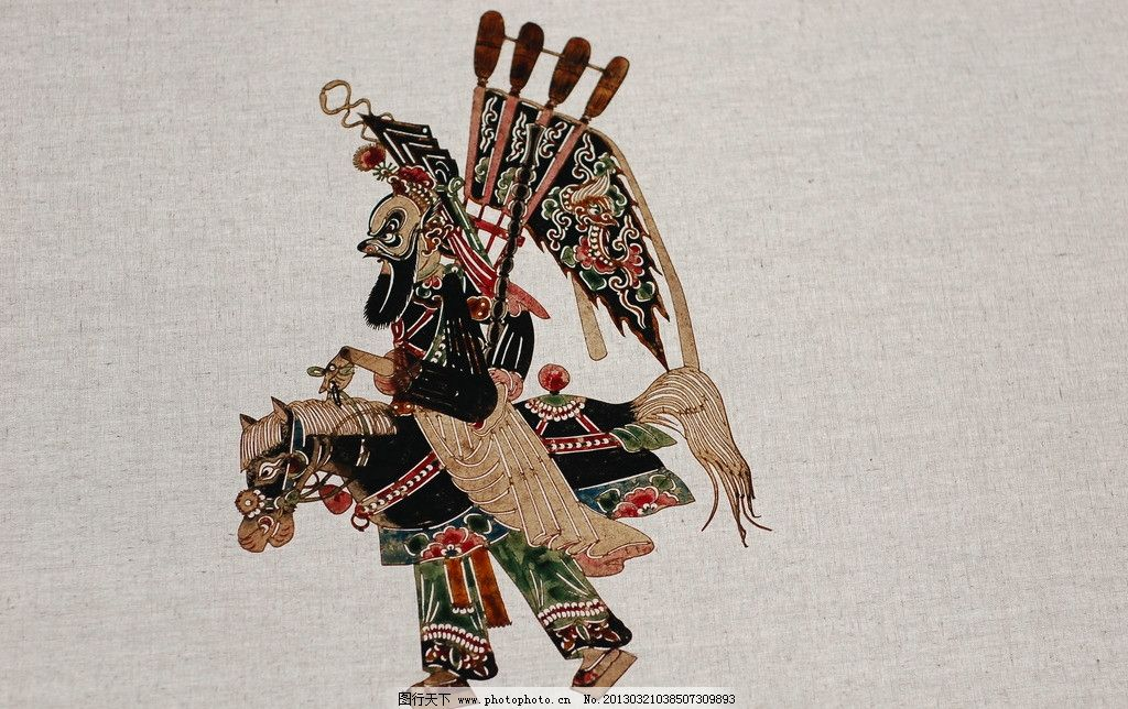 皮影 国画 人物画 传统 民族 摄影