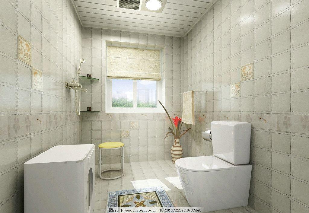 卫生间效果图 浴霸 成品集成吊顶