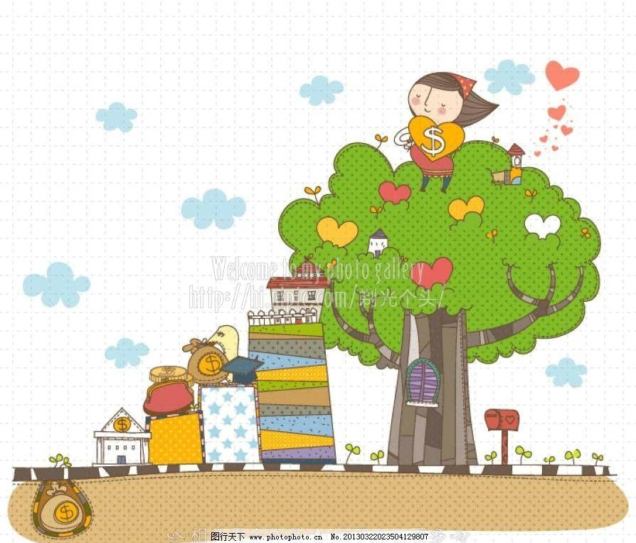 树木图片_儿童幼儿_人物图库