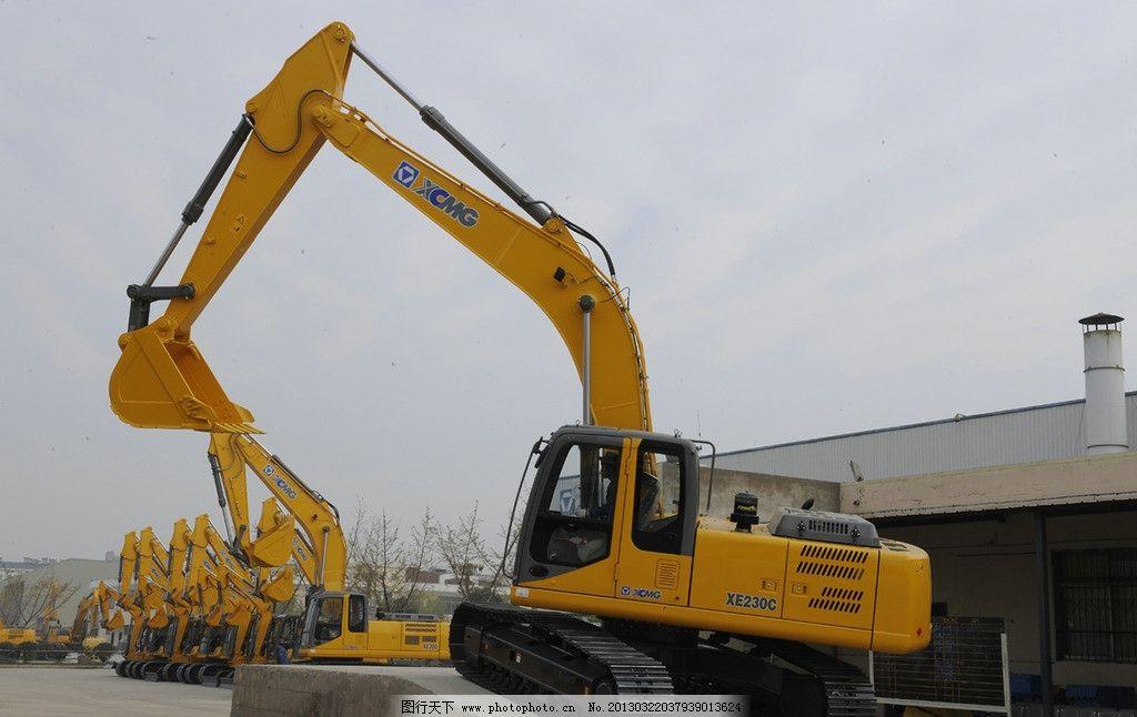 挖掘机 工程机械 徐工产品 工业生产 现代科技 摄影 300dpi jpg
