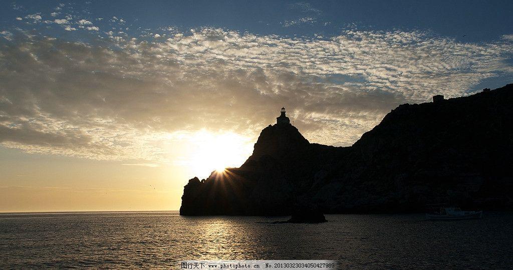 灯塔 海边夜景图片