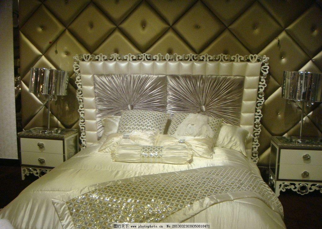 欧式双人床图片