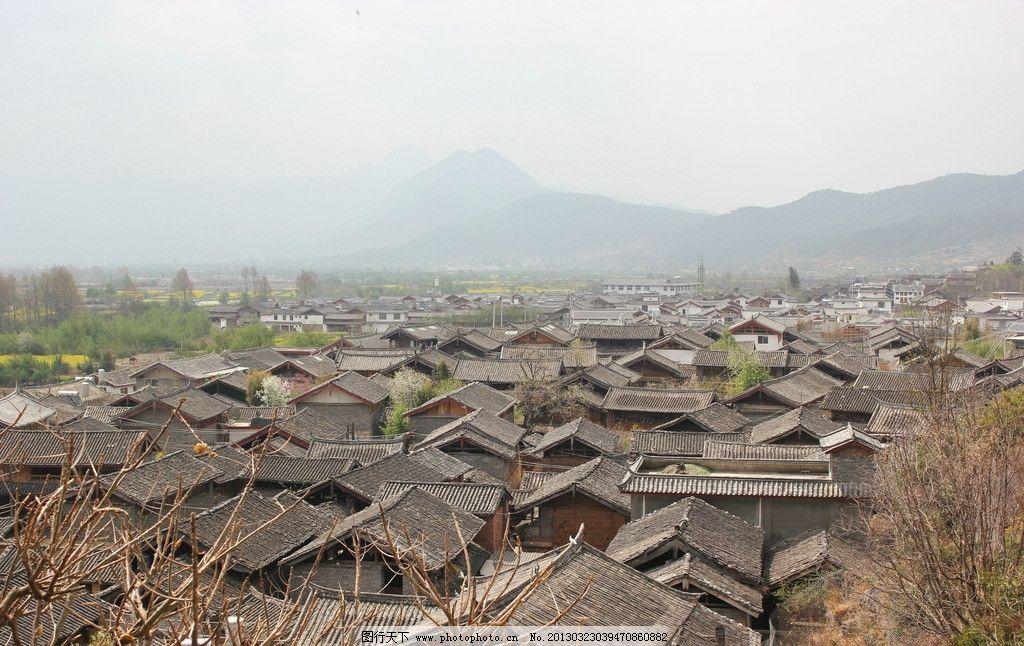 村庄 俯视图 瓦房 村子 房子 建筑摄影 建筑园林 摄影 72dpi jpg