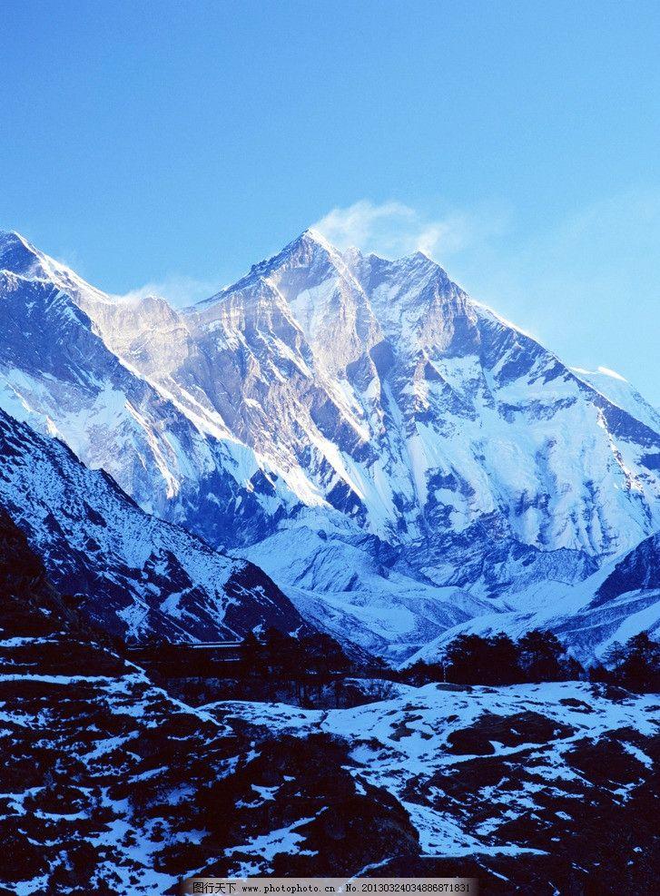 雪山图片_自然风景_自然景观