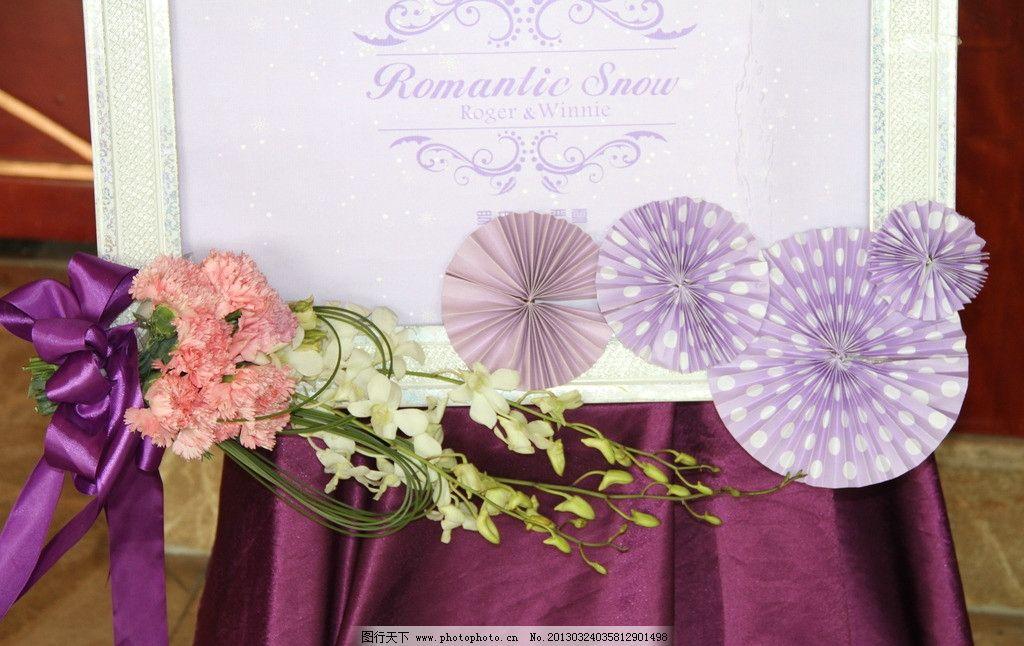 婚礼指示牌花艺图片图片