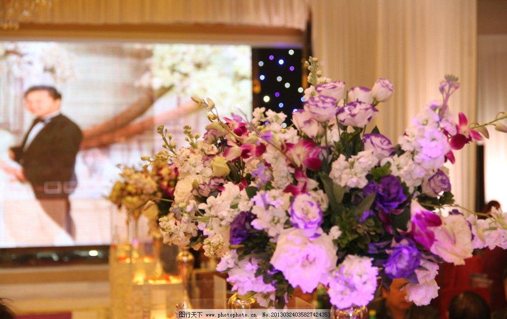 婚礼大厅玫瑰花图片_树木树叶_生物世界_图行天下图库