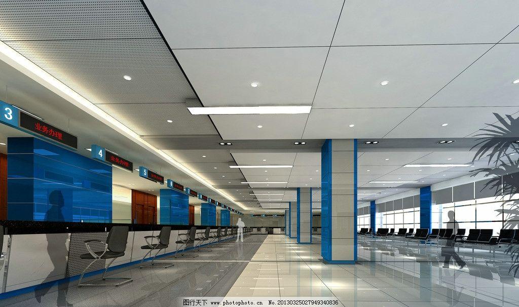服务大厅 办公楼 行政中心 办事大厅 办证大厅 办公设计 室内设计