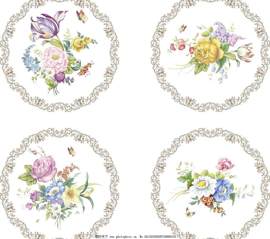 cdr 边框 底纹 底纹边框 蝴蝶 花朵 花纹 菊花 兰花 葡萄 矢量花纹
