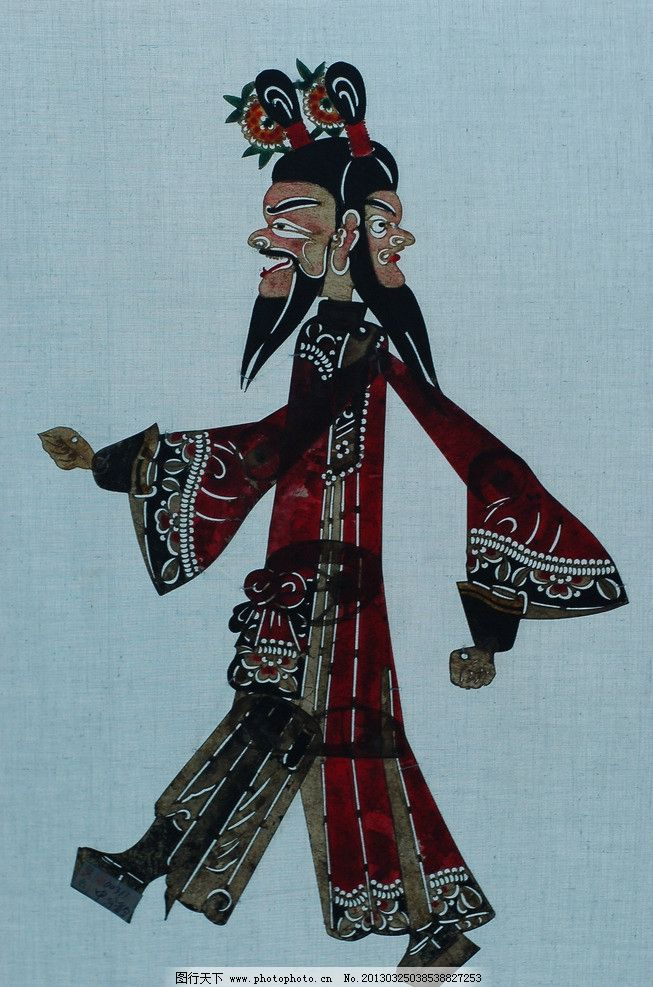 皮影 国画 人物画 传统 民族 驴皮 神话 传说 地方 戏剧 摄影