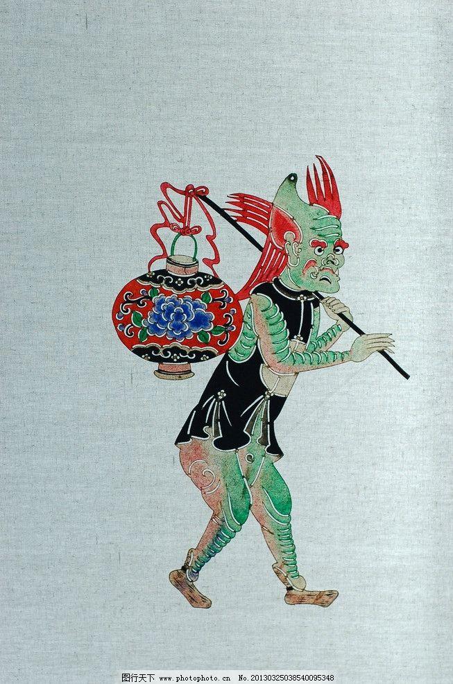 皮影 国画 人物画 传统 民族 驴皮 神话 传说 摄影