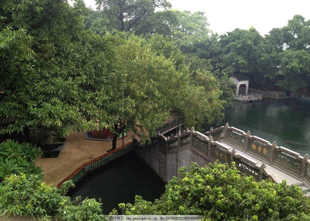 中国古典园林俯视图 园林景观 俯视园林 鸟瞰园林 小桥 石桥 树木