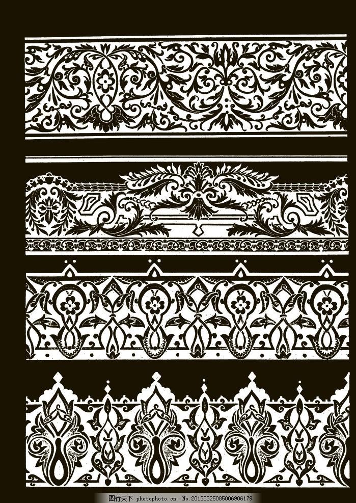 欧式花边 吉祥纹样 花卉 图案 传统 底纹 欧洲 源文件图片