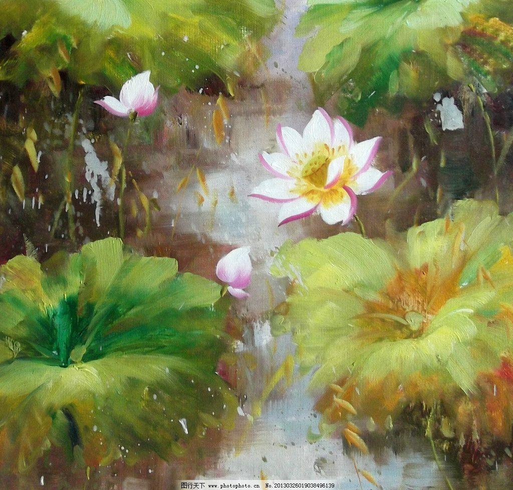 抽象花卉 抽象 花卉 荷花 荷叶 高清 绘画书法 文化艺术 设计 200dpi图片