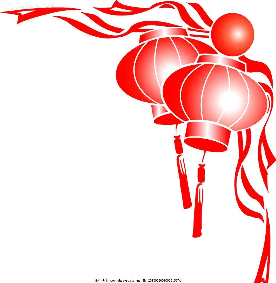 红色灯笼 红色 灯笼 边框 装饰 设计 其他素材 底纹边框 300dpi tif