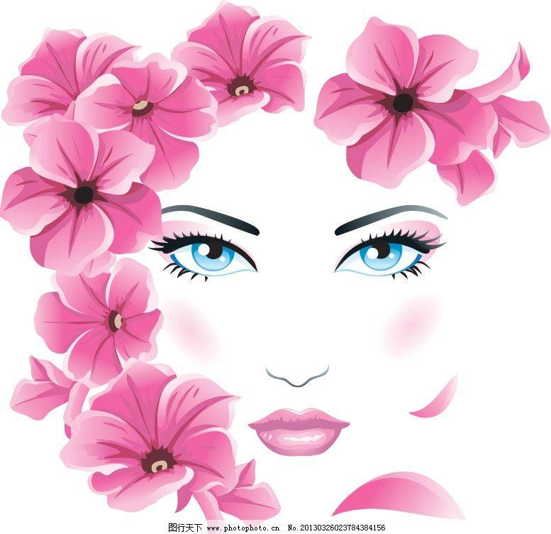 春天鲜花美女头像 粉色 鲜花 花朵 浪漫 春姑娘 女孩 美女 女人 少女