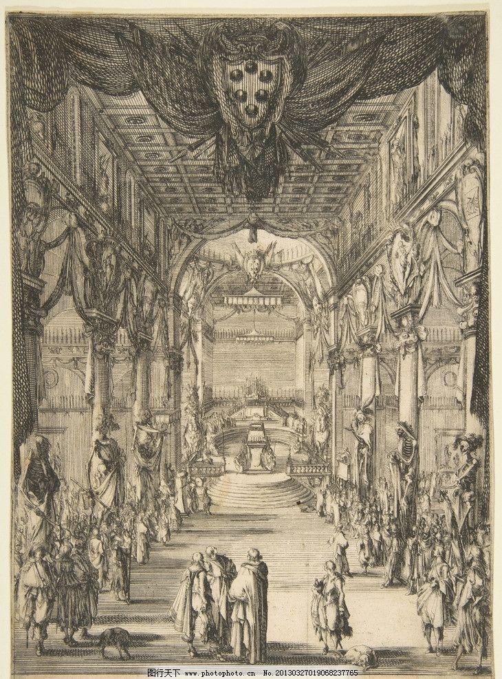 铜版画 欧洲 钢笔画 装饰画 黑白 线条 建筑 透视 美术馆藏品