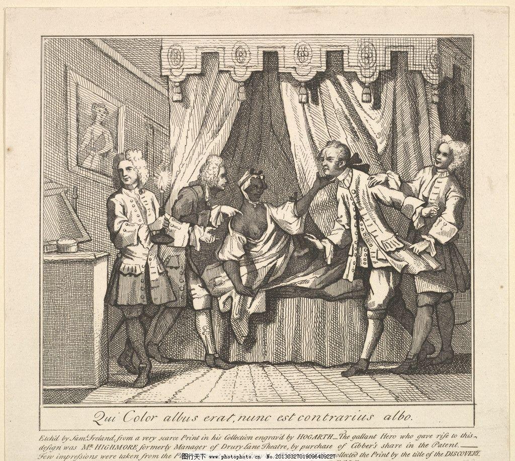 铜版画 版画 欧洲 钢笔画 装饰画 黑白 线条 人物 美术馆藏品 绘画