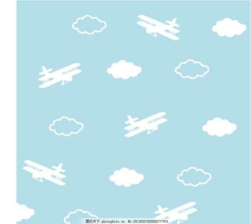 飞机边框手绘简笔画