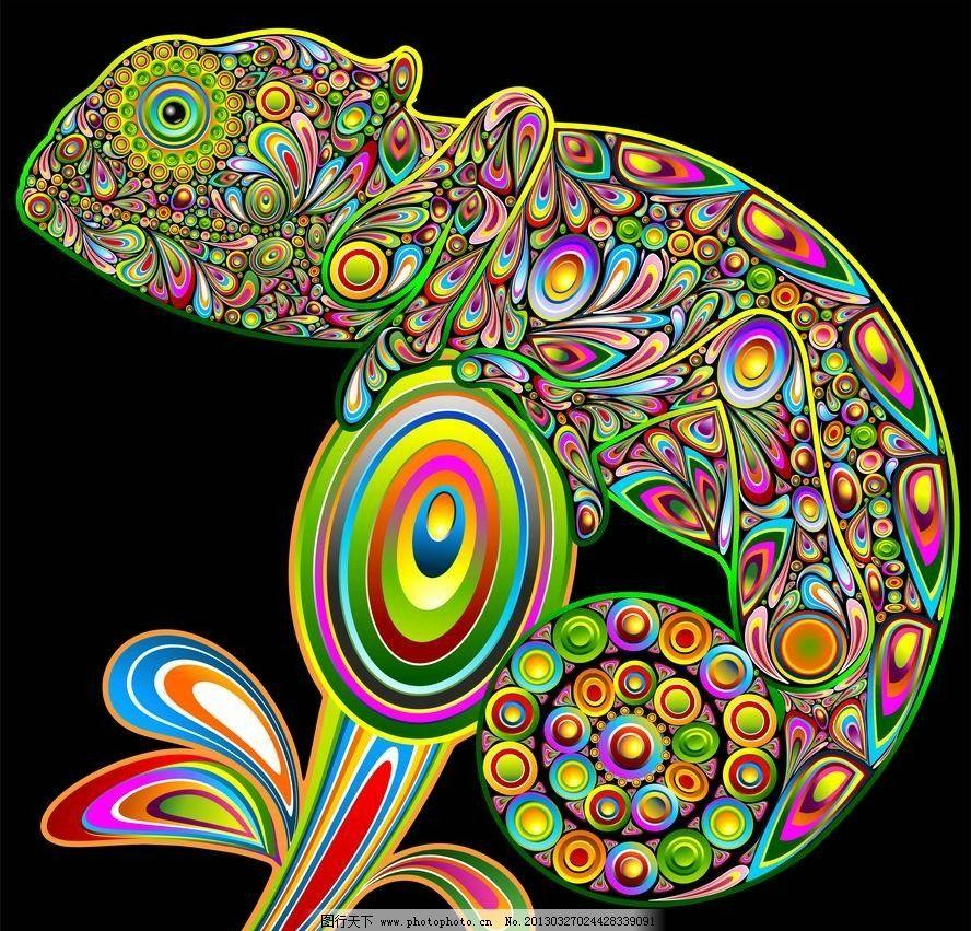 蜥蜴花纹图片_野生动物_生物世界_图行天下图库