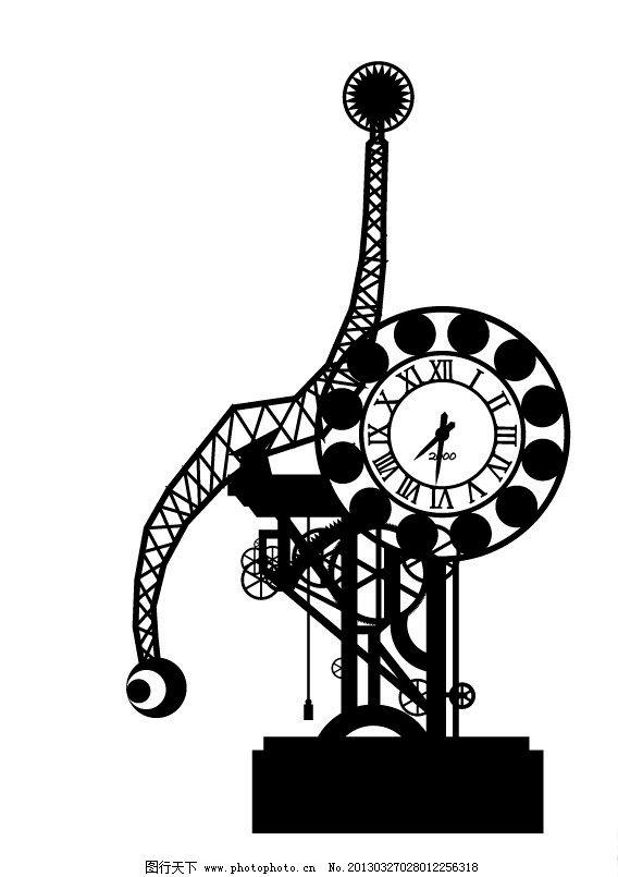 天津世纪钟剪影矢量 天津 世纪钟 剪影 地标 矢量 城市建筑 建筑家居