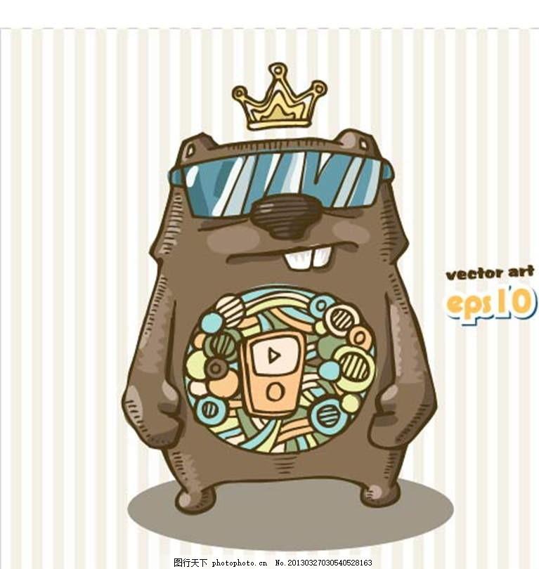 小熊 机器人 机械人 皇冠 太阳镜 随身听 MP3 播放器 机械熊 插画 背景画 动漫 卡通 时尚背景 背景元素 图画素材 梦幻素材 花式背景 背景素材 卡通动物 卡通背景 漫画 梦幻世界 卡通动漫 动漫玩偶 卡通设计 动画设计 动画背景 手绘画 插画设计 矢量卡通设计 广告设计 矢量 EPS