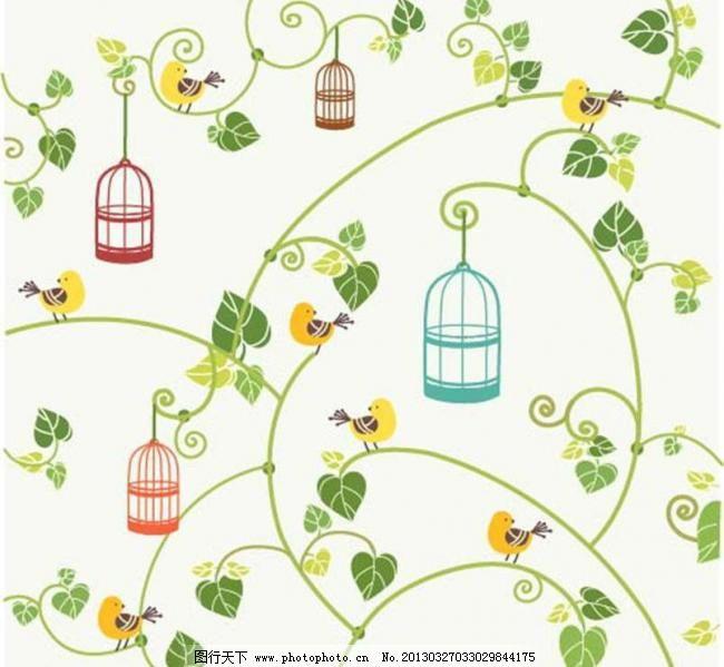 绿植手绘 桌面背景