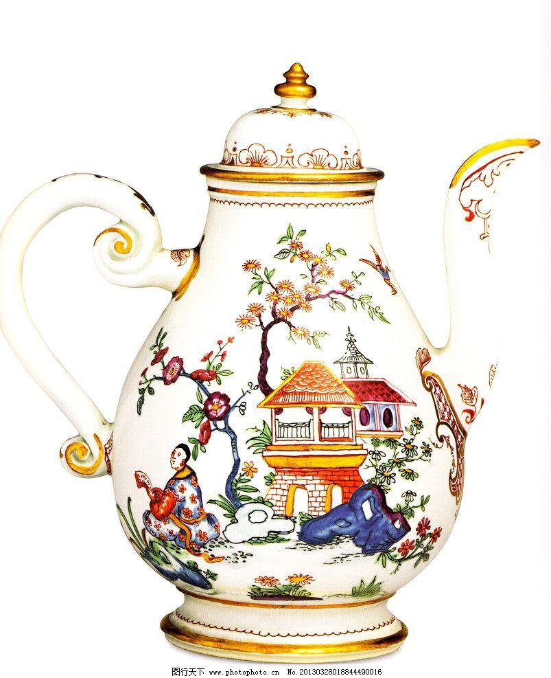 花鸟图案 吉祥图案 西洋花纹 彩绘花纹 浮雕花纹 瓷器 陶瓷茶壶 器皿