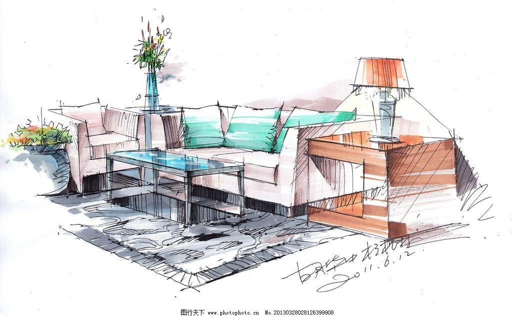 室内手绘效果图 手绘 室内 设计 家具        景观设计 环境设计 200