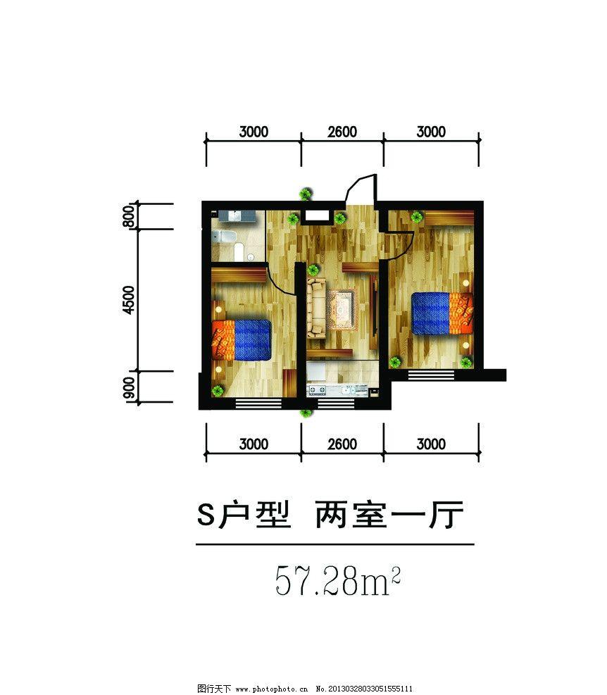 室内平面布置图图片