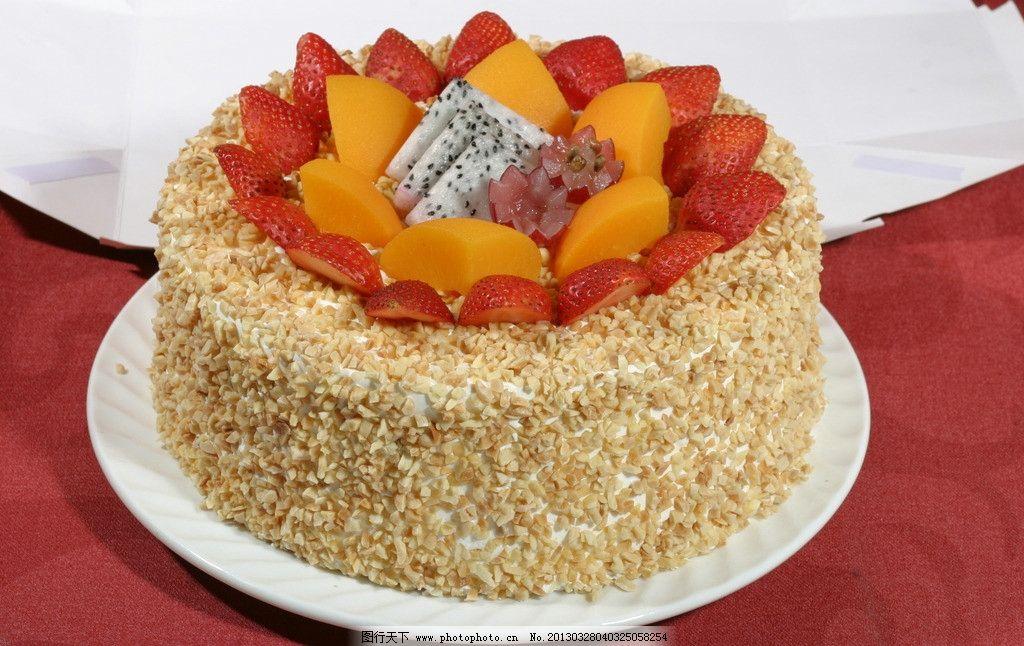 水果芝麻仁蛋糕图片图片