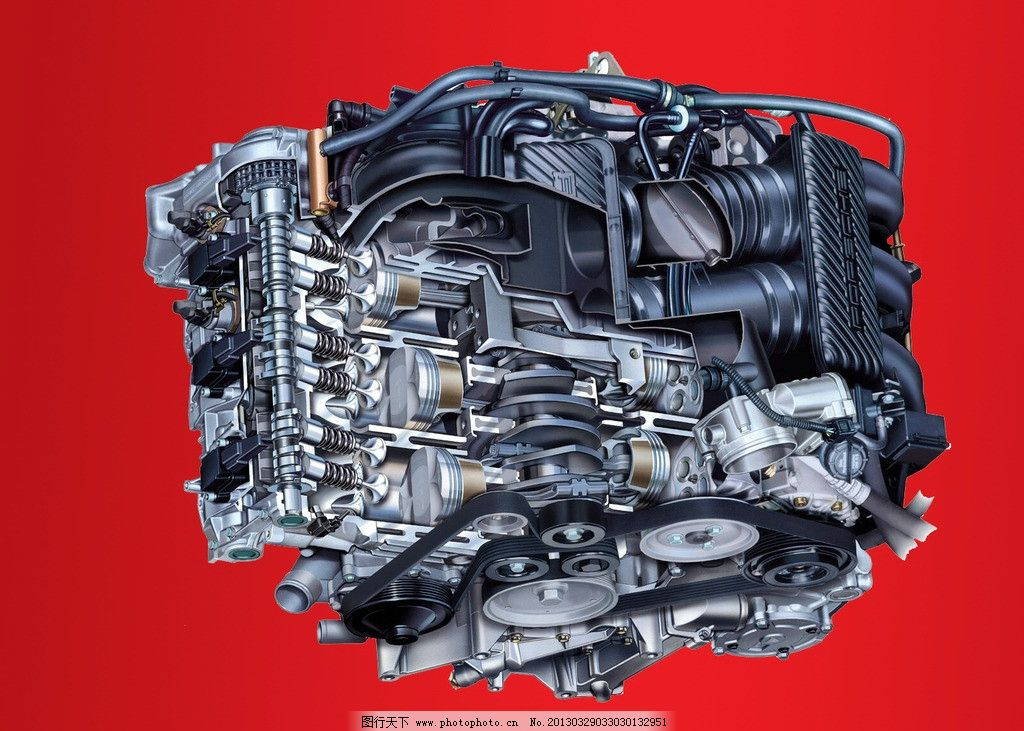 发动机 引擎 马达 工业 科技 汽车 汽车零件 psd分层素材 源文件 100d