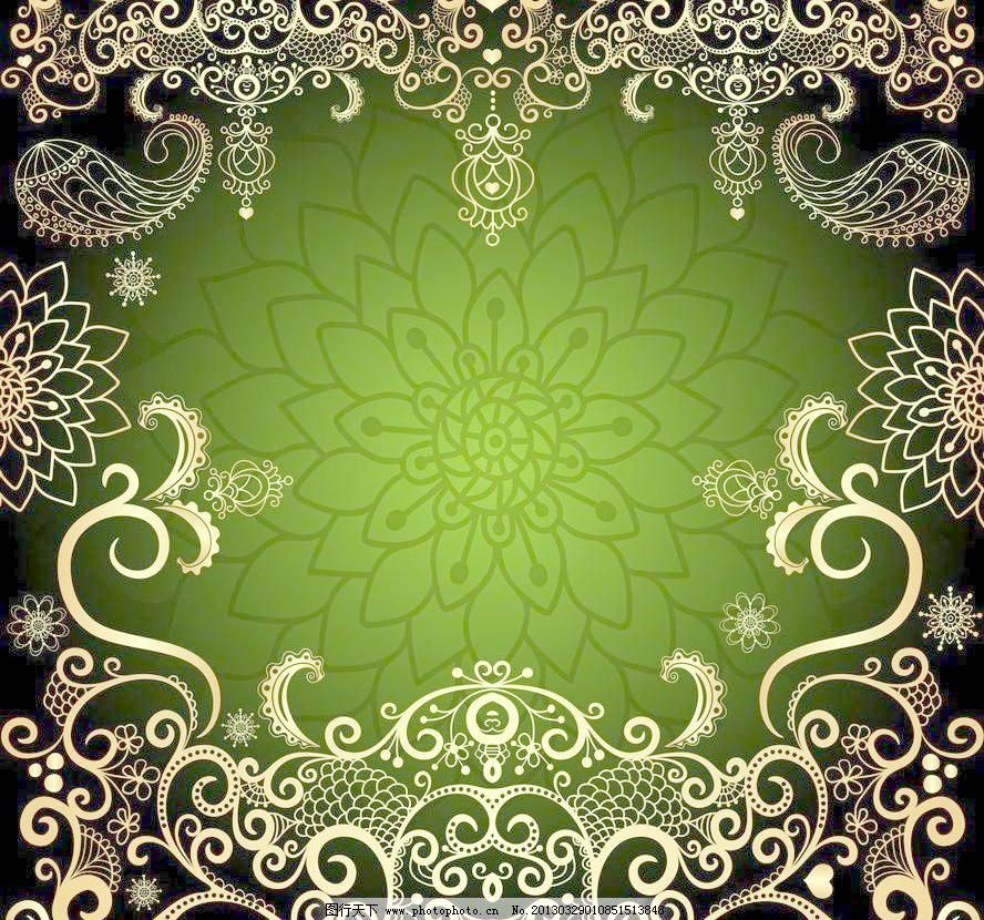 eps 背景 潮流 底纹边框 对称 古典 古典花纹 花朵 花卉 花纹 欧式