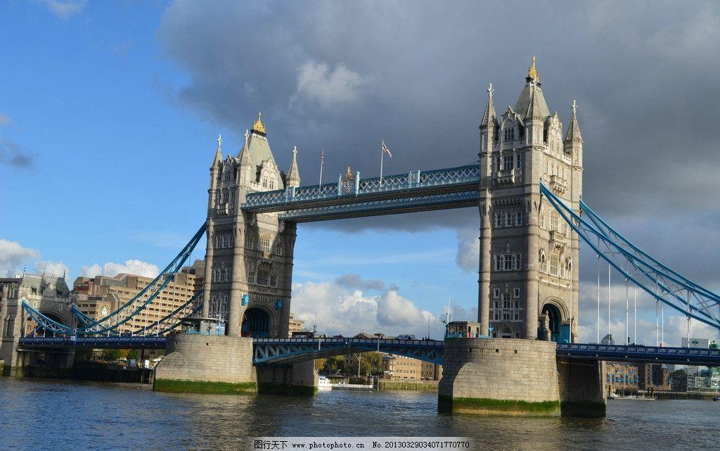 欧洲风景 建筑 湖面 大桥 伦敦 国外旅游 天空 欧式建筑 摄影图片