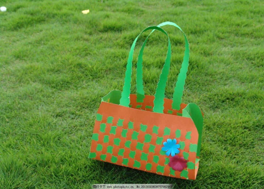 手工包 手工袋 手工制作 购物袋 草地 美术绘画 摄影