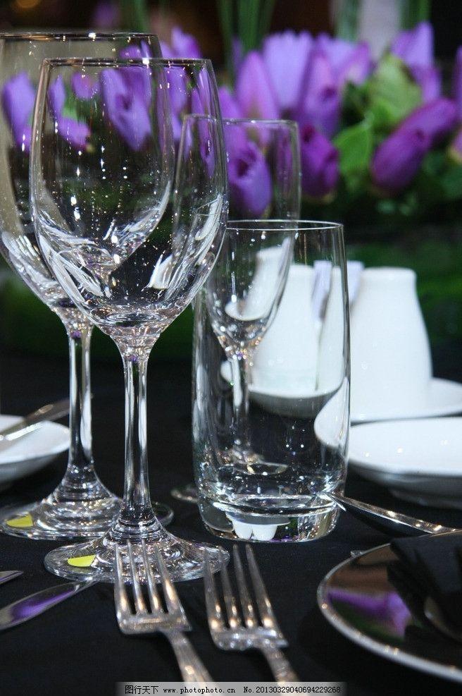 西餐摆台 餐饮 酒杯 餐具厨具 餐饮美食 摄影
